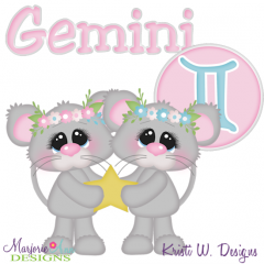 Zodiac Friends~Gemini SVG Cutting Files + Clipart