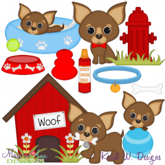 I Love My Chihuahua-Boy SVG Cutting Files Includes Clipart