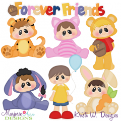 Forever Friends SVG Cutting Files-Includes Clipart