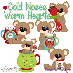 Cold Noses Warm Hearts SVG Cutting Files Includes Clipart