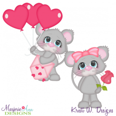 For My Valentine SVG Cutting Files + Clipart