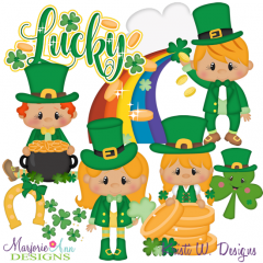 Cuties-Lucky Me SVG Cutting Files Includes Clipart