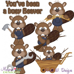 Busy Beaver's SVG Cutting Files + Clipart