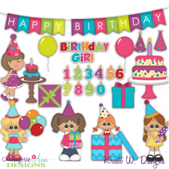 Birthday Girl SVG Cutting Files + Clipart