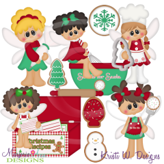 Cookies For Santa Pixies SVG Cutting Files Includes Clipart