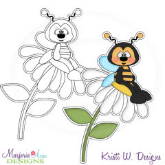 Let's Bee Friends Digital Stamp + Clipart