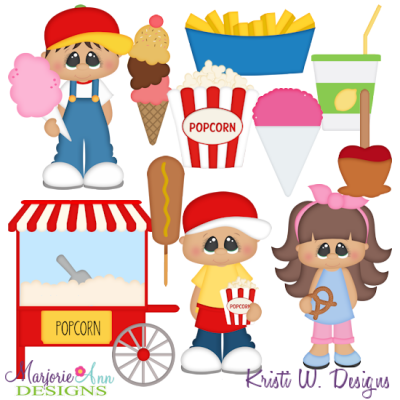 Fair Food SVG Cutting Files Includes Clipart