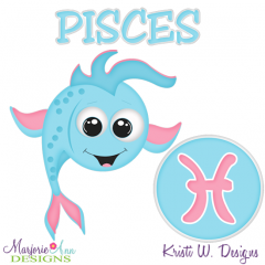 Zodiac Friends~Pisces SVG Cutting Files + Clipart
