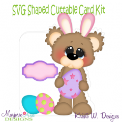 Beary Happy Easter 2~Shaped SVG/MTC Card Kit/Cutting File