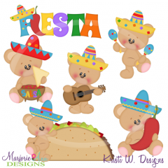 Fiesta Bears Cutting Files-Includes Clipart
