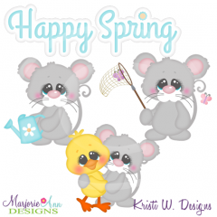 Spring Squeaks Cutting Files-Includes Clipart