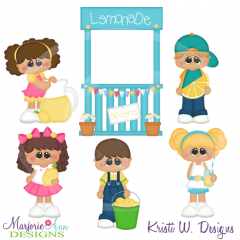 My First Lemonade Stand Cutting Files-Includes Clipart