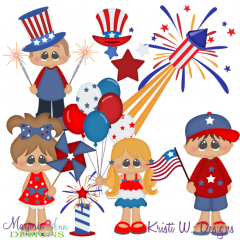 Patriotic Pals SVG Cutting Files + Clipart