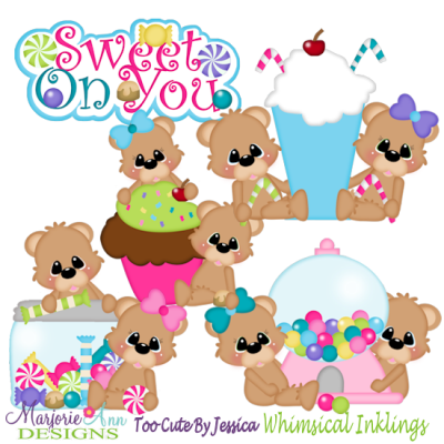 Sweet On You Bears SVG Cutting Files Includes Clipart