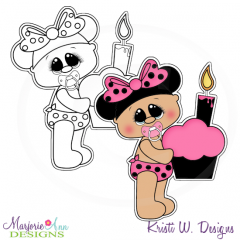 A Very Minnie Birthday-Baby Exclusive Digital Stamp + Clipart