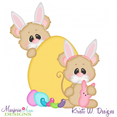 Easter Squeaks SVG Cutting Files Includes Clipart