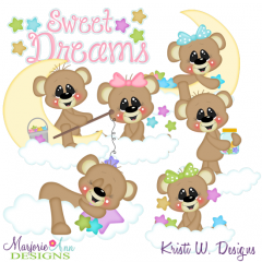 Sweet Dreams Exclusive SVG Cutting Files + Clipart