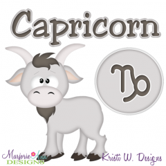 Zodiac Friends~Capricorn SVG Cutting Files + Clipart