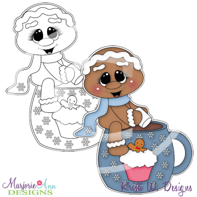 Cookies and Cocoa 3 Digital Stamp + Clipart