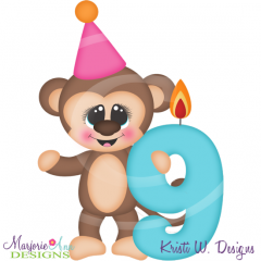 Party Animal 9th Birthday Cutting Files-Includes Clipart
