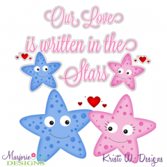 Our Love Is Written In The Stars SVG Cutting Files + Clipart