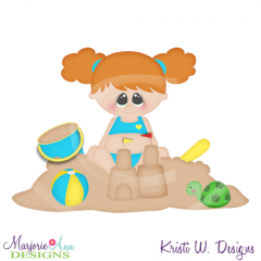Callie & Her Castle SVG Cutting Files Includes Clipart