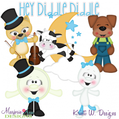 Hey Diddle Diddle SVG Cutting Files + Clipart