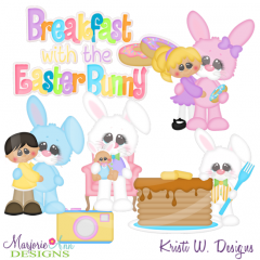 Breakfast With The Easter Bunny Cutting Files-Includes Clipart