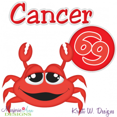 Zodiac Friends~Cancer SVG Cutting Files + Clipart