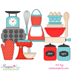Baking EXCLUSIVE SVG Cutting Files Includes Clipart