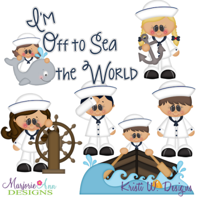 I Love The Sea-Navy SVG Cutting Files + Clipart