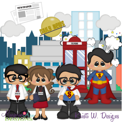 Super Hero SVG Cutting Files Includes Clipart