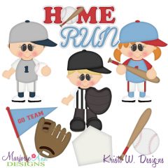 When I Grow Up~Baseball Player Cutting Files-Includes Clipart