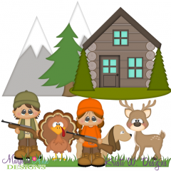 Hunting Season SVG Cutting Files + Clipart