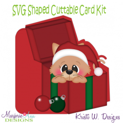 Meowy Christmas~Shaped SVG/MTC Card Kit/Cutting File