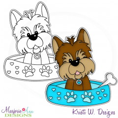 My Best Friend Yorkie~Boy Digital Stamp + Clipart