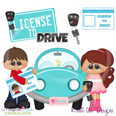 License To Drive SVG Cutting Files Includes Clipart