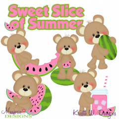 Patches The Bear-Sweet Slice Of Summer Exclusive SVG Cut Files