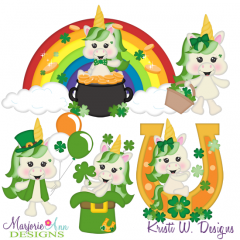 Lucky Unicorns SVG Cutting Files Includes Clipart