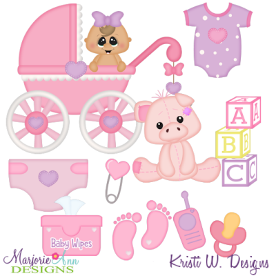 All About Baby- Girl SVG Cutting Files Includes Clipart