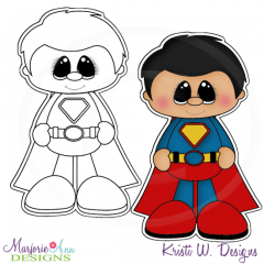Little Super Hero 6 Digital Stamp + Clipart
