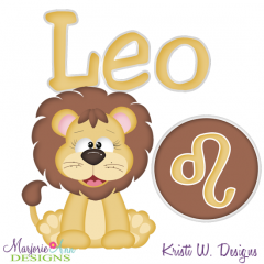 Zodiac Friends~Leo SVG Cutting Files + Clipart