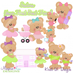 Sisters~Your 1st Best Friend Exclusive Cutting Files + Clipart