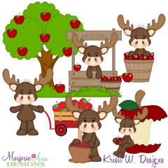 Marty At The Orchard Cutting Files Includes Clipart