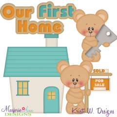 Our First Home SVG Cutting Files Includes Clipart