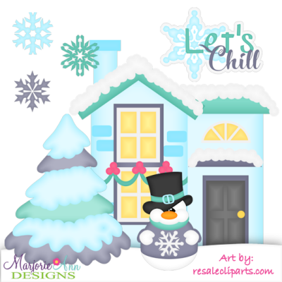 Let's Chill Exclusive SVG Cutting Files + Clipart