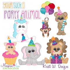 You're Such A Party Animal Cutting Files-Includes Clipart