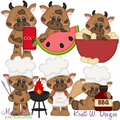 BBQ Beef SVG Cutting Files Includes Clipart