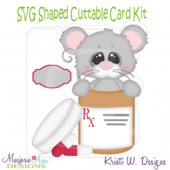 Get Well Wishes~Shaped SVG/MTC Card Kit/Cutting File