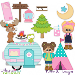 Glamping SVG Cutting Files Includes Clipart